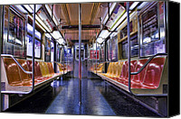King Digital Art Canvas Prints - NYC Subway Canvas Print by Kelley King