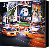 Taxi Canvas Prints - NYC Taxi Taxi Canvas Print by Nina Papiorek