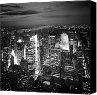 New York Skyline Canvas Prints - NYC Times Square Canvas Print by Nina Papiorek