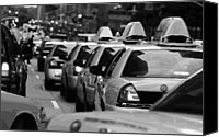 Speeding Taxi Canvas Prints - NYC Traffic BW16 Canvas Print by Scott Kelley