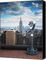 Urban Landscape Canvas Prints - NYC Viewpoint Canvas Print by Nina Papiorek