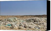 Garbage Canvas Prints - Nylon Waste Dump Site Canvas Print by Noam Armonn