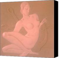 Framed Sculpture Canvas Prints - NYMPH -  Art Deco Canvas Print by Gunter Erik  Hortz