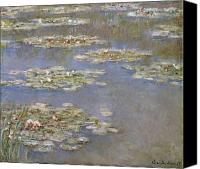 Impressionism Canvas Prints - Nympheas Canvas Print by Claude Monet