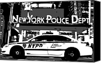 New York City Police Canvas Prints - Nypd Bw3 Canvas Print by Scott Kelley