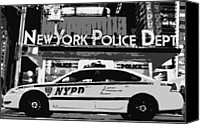 New York City Police Canvas Prints - Nypd Bw8 Canvas Print by Scott Kelley