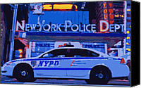 New York City Police Canvas Prints - NYPD Color 16 Canvas Print by Scott Kelley