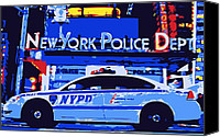 New York City Police Canvas Prints - NYPD Color 6 Canvas Print by Scott Kelley