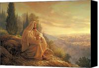 Yellow Canvas Prints - O Jerusalem Canvas Print by Greg Olsen