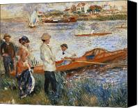 1919 Canvas Prints - Oarsmen at Chatou Canvas Print by Pierre Auguste Renoir