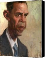 Portrait Barack Obama Canvas Prints - Obama Canvas Print by Court Jones