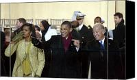 Joe Biden Canvas Prints - Obama Inaguration, 2009 Canvas Print by Granger