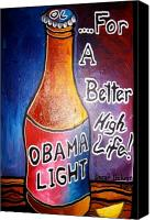 Barrack-obama Canvas Prints - Obama Light Canvas Print by Oscar Galvan