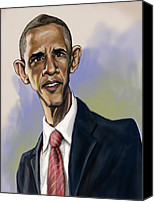 Portrait Barack Obama Canvas Prints - Obama Canvas Print by Tyler Auman