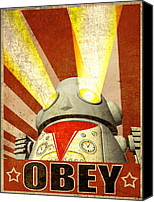 Brother Canvas Prints - OBEY Version 2 Canvas Print by Michael Knight