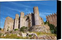 Brick Canvas Prints - Obidos Castle Canvas Print by Carlos Caetano