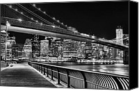 The City That Never Sleeps Canvas Prints - Obligatory BW Canvas Print by JC Findley