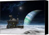 Science Fiction Canvas Prints - Observatory Canvas Print by Cynthia Decker