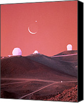 Mauna Kea Canvas Prints - Occultation Of Moon & Venus Over Mauna Kea, Hawaii Canvas Print by Magrath Photography