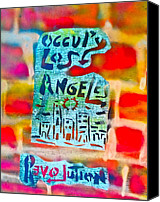 Conservative Painting Canvas Prints - Occupy Los Angeles Canvas Print by Tony B Conscious