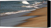 Scenery Pyrography Canvas Prints - Ocean City Beach Canvas Print by Valia Bradshaw