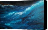 House Painting Canvas Prints - Ocean II Canvas Print by Patricia Motley