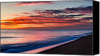 Impressionism Photo Canvas Prints - Ocean Morning Canvas Print by Bill  Wakeley