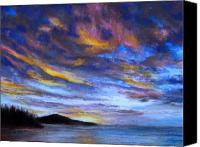 Sky Pastels Canvas Prints - Ocean Sky Canvas Print by Susan Jenkins