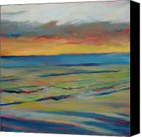 Donna Shortt Painting Canvas Prints - Ocean Sunset II Canvas Print by Donna Shortt
