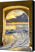Florida Bridge Canvas Prints - Ocean View Canvas Print by Debra and Dave Vanderlaan