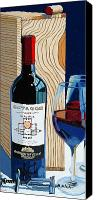 Wine Art Canvas Prints - Octagon From The Box Canvas Print by Christopher Mize