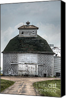 Farming Barns Canvas Prints - Octagonal Barn Canvas Print by Deborah Smolinske