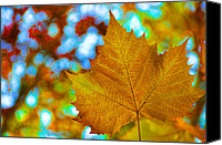 Gold Leave Canvas Prints - October Party Canvas Print by JAMART Photography