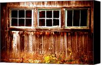 Barn Windows Canvas Prints - Odd one Out Canvas Print by Emily Stauring
