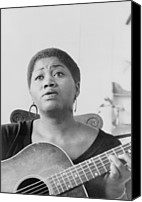 Blacks Canvas Prints - Odetta Holmes 1930-2008, African Canvas Print by Everett