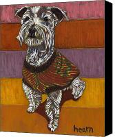 Miniature Canvas Prints - Odie Goes to Market Canvas Print by David  Hearn