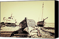 Wooden Boat Canvas Prints - Of Different Eras Canvas Print by Meirion Matthias