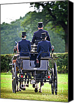 Dressage Canvas Prints - Of More Gentile Times Canvas Print by Meirion Matthias