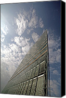 Building Materials Canvas Prints - Office Building Canvas Print by Carlos Dominguez