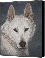 Wolf Pastels Canvas Prints - Ogin Canvas Print by Teresa LeClerc