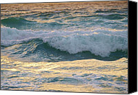 Wave Pyrography Canvas Prints - Oh  Majestic Ocean Canvas Print by E Luiza Picciano
