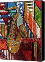 Brass Band Canvas Prints - Oh Say Can You See Canvas Print by Mindy Newman