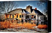 Old Abandoned House Canvas Prints - Oh the Memories Canvas Print by Emily Stauring