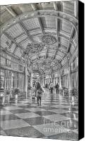 Airport Concourse Canvas Prints - Ohare Concourse Canvas Print by David Bearden
