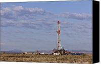 Rural Texas Canvas Prints - Oil Exploration Drill Canvas Print by Jeremy Woodhouse