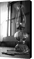 Oil Lamp Canvas Prints - Oil lamp Canvas Print by Earl Cockerham