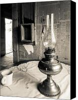 Oil Lamp Canvas Prints - Oil Lamp Canvas Print by Gary Gray