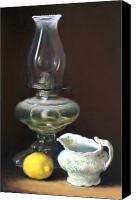 Oil Lamp Canvas Prints - Oil Lamp Canvas Print by Lauri Fielding