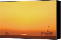 Copy Space Canvas Prints - Oil Rig Canvas Print by Eric Lo