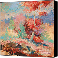 Mjonesart Canvas Prints - Oklahoma Autumn Canvas Print by Micheal Jones